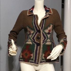Anthropologie Sparrow Aztec sweater